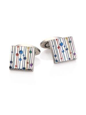 Multicolor Titanium Square Cuff Links
