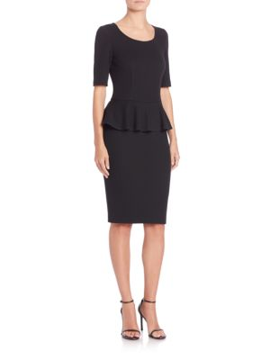 Caviar Collection Milano Pique Peplum Dress