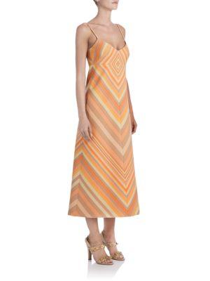 Rochie lungă VALENTINO Chevron