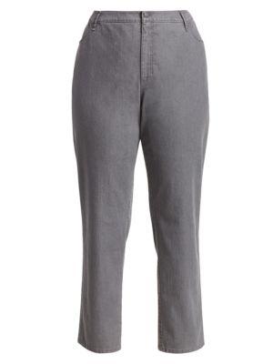 Bella Curvy Slim-Leg Jeans plus size,  plus size fashion plus size appare