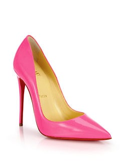Christian Louboutin - Patent Leather Point-Toe Pumps