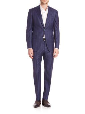 Tonal Plaid Suit