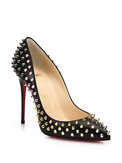 Christian Louboutin - Spiked Leather Pumps