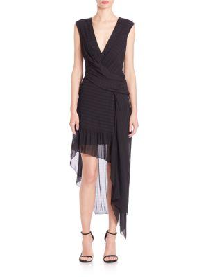 Asymmetric Woven Hem Dress