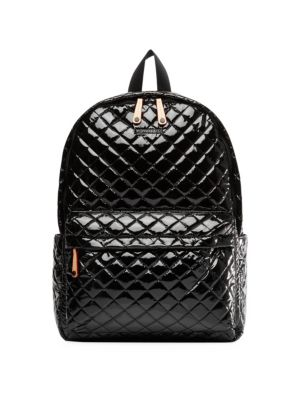 Metro Lacquered Quilted Nylon Backpack
