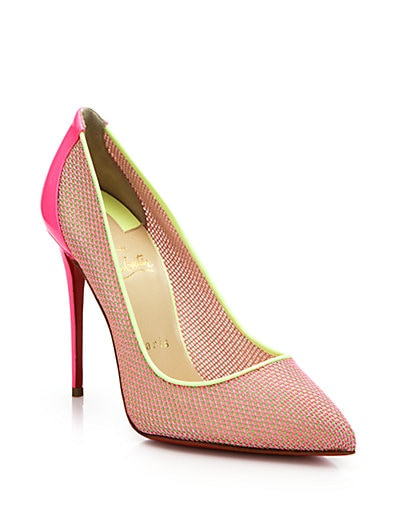 CHRISTIAN LOUBOUTIN Tucskick Giittered Red Sole Pump