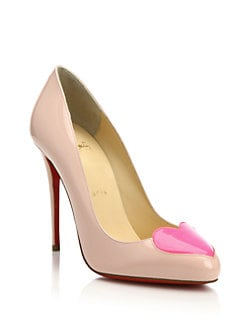Christian Louboutin - Patent Leather Heart-Toe Pumps