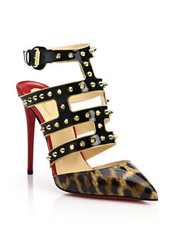 christian louboutin spiked platform sandals