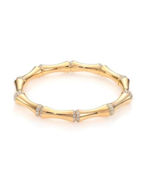 GUCCI BAMBOO MEDIUM DIAMOND & 18K YELLOW GOLD BRACELET, NA