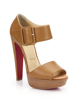 Christian Louboutin - Leather Ankle-Strap Platform Sandals