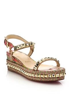 Christian Louboutin - Studded Cataclou Platform Espadrille Sandals