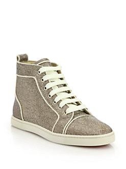 Christian Louboutin - Glitter Hi-Top Sneakers