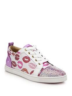 Christian Louboutin - Low-Top Lip Sneakers