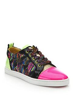 Christian Louboutin - Neon Woven Sneakers