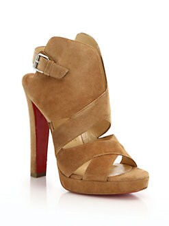 Christian Louboutin - Suede Open-Toe Sandals