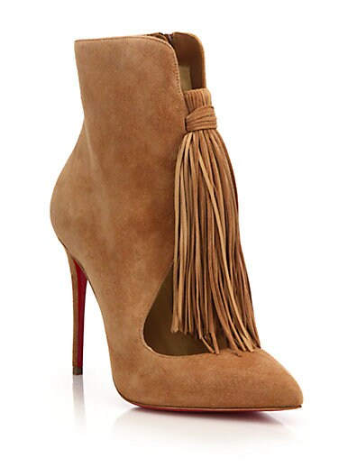 CHRISTIAN LOUBOUTIN Ottocarl 100Mm Noisette Suede