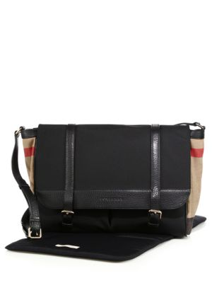 Check-Detail Diaper Messenger Bag