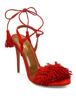 Wild Thing Fringe Suede Sandals