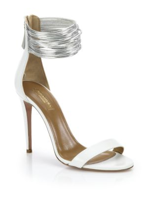 Spin Me Around Leather Ankle-Strap Sandals