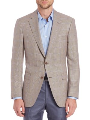 COLLECTION BY SAMUELSOHN Classic-Fit Houndstooth Check Wool & Silk Sportcoat