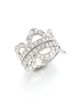 HEARTS ON FIRE Lorelei Diamond & 18K White Gold Ring