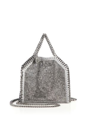 Falabella Tiny Baby Bella Embellished Faux Leather Tote