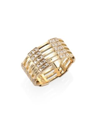 Izzy Diamond & 18K Yellow Gold Ring
