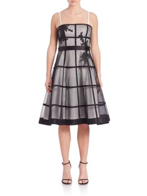 Strapless Check Cocktail Dress