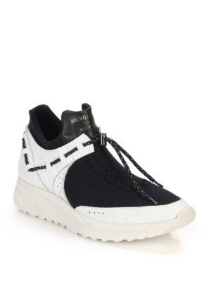 Delta Leather & Neoprene Sneakers
