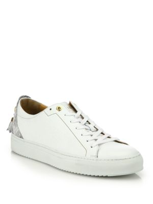 Alfa Low-Top Leather Sneakers