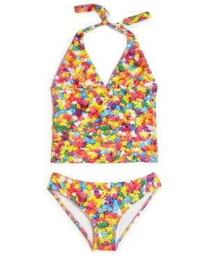 Toddlers Little Girls  Girls TwoPiece Funfetti Sprinkles Tankini
