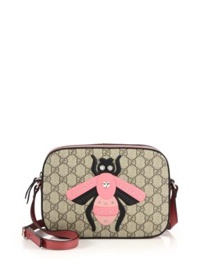 gucci female 186609 gg supreme bee shoulder bag