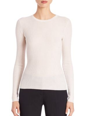 michael kors female 188971 ribbed cashmere sweater