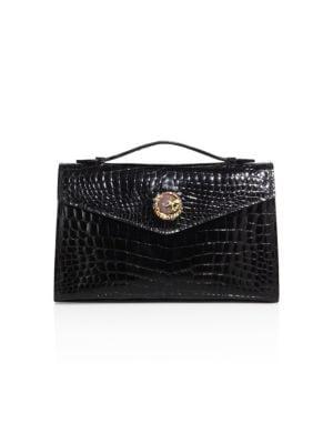 ETHAN K K22 Crocodile Top-Handle Bag