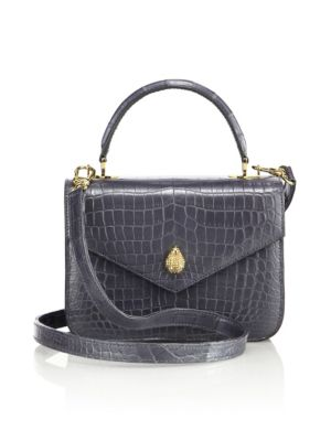 ETHAN K 1418 Mini Crocodile Crossbody Bag