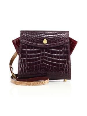 ETHAN K Adina Small Crocodile Crossbody Bag