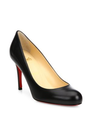 christian louboutin female simple leather pumps