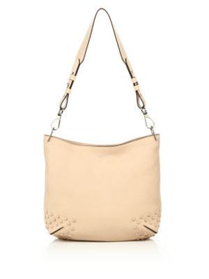 tods female gommini small leather hobo bag