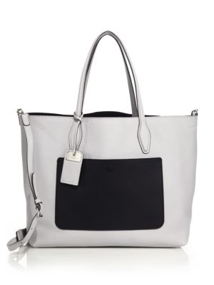 Joy Large Reversible Two-Tone Leather & Suede Tote