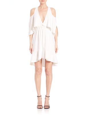 Draped Cold-Shoulder Dress