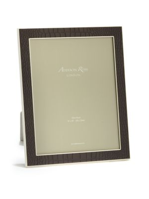 Faux Croc-Embossed Picture Frame