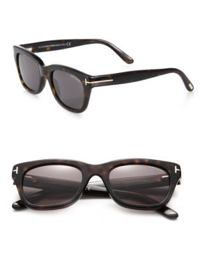 Snowdon Rectangular 52MM Acetate Sunglasses