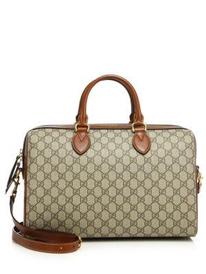 gucci female gg supreme medium tophandle bag