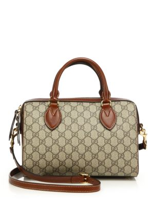 gucci female gg supreme top handle bag