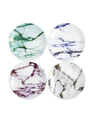 Set of Four Marble Coupe Plates