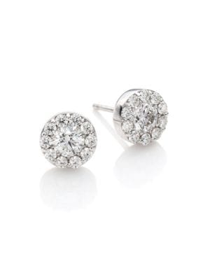 Fulfillment Diamond & 18K White Gold Stud Earrings
