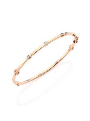 Copley Diamond & 18K Rose Gold Bangle