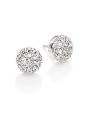 HEARTS ON FIRE Fulfillment Diamond & 18K White Gold Stud Earrings