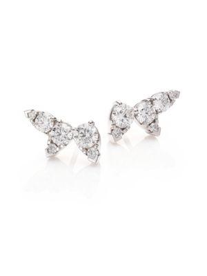 Aerial Diamond & 18K White Gold Ear Vine Earrings