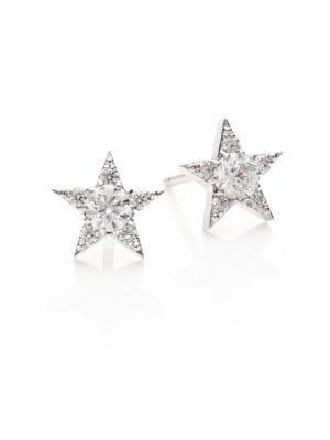 HEARTS ON FIRE Illa Diamond & 18K White Gold Cluster Earrings